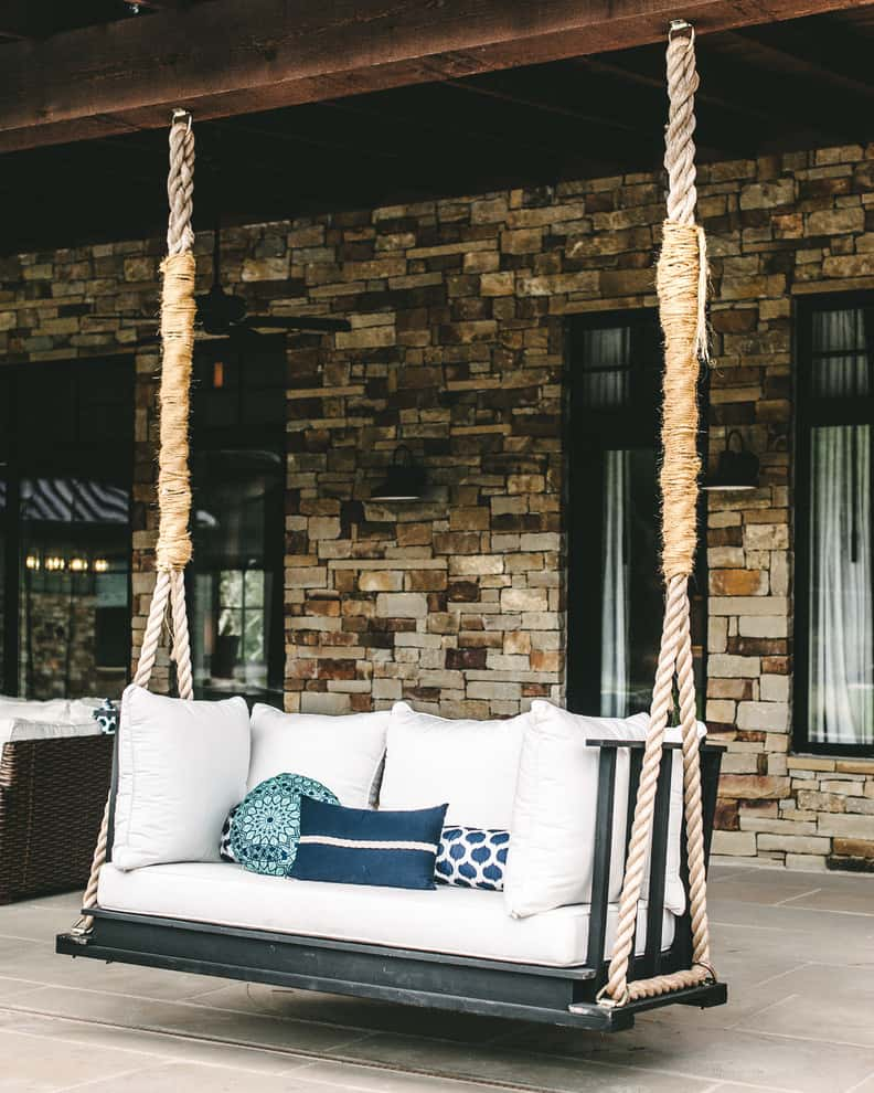 Chic modern porch swing decor