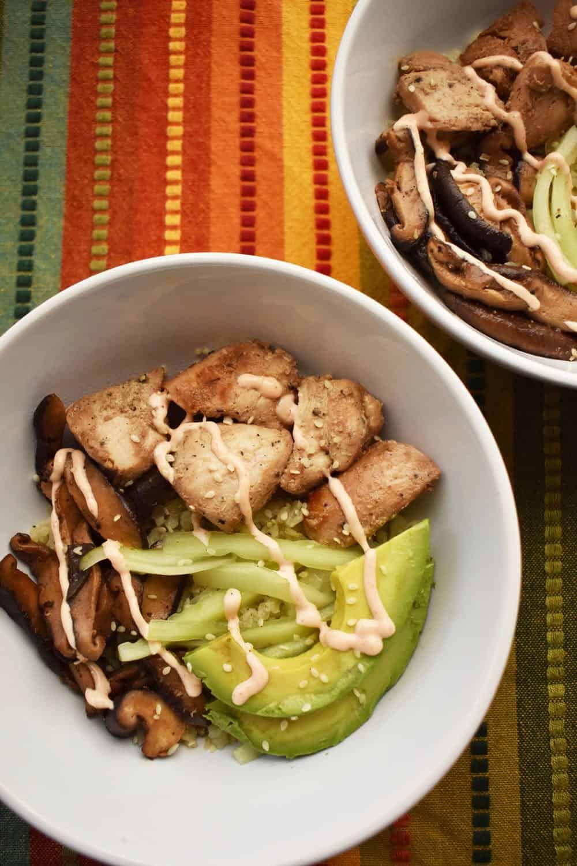 Chicken cauliflower rice bowl