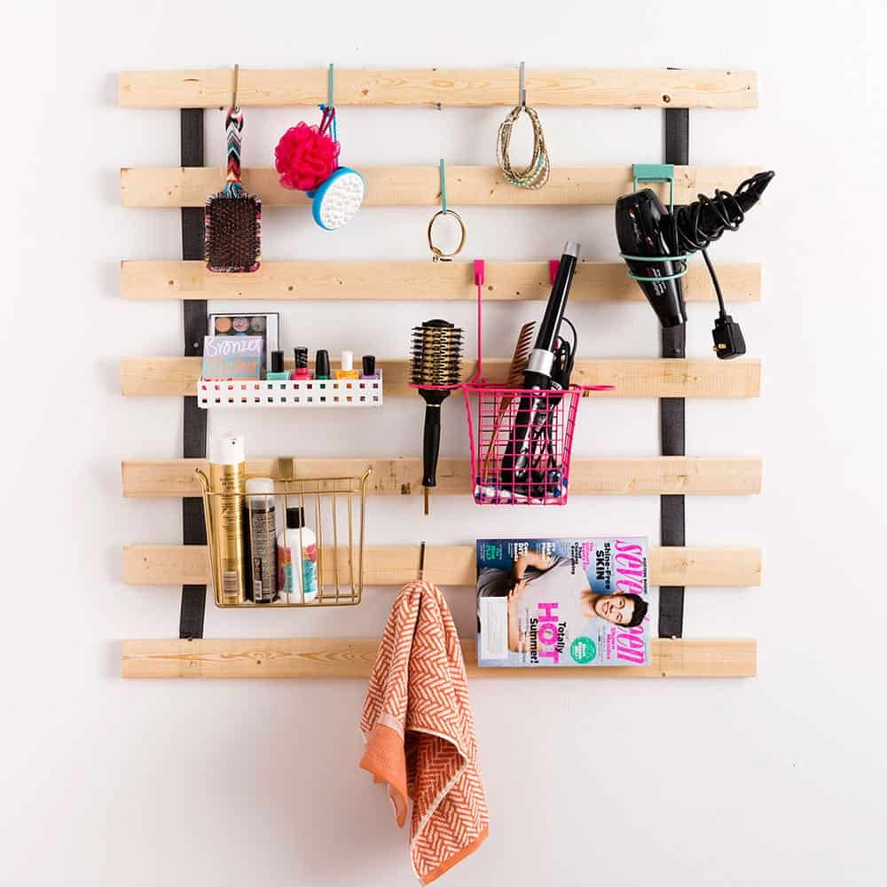 Diy bed slat storage
