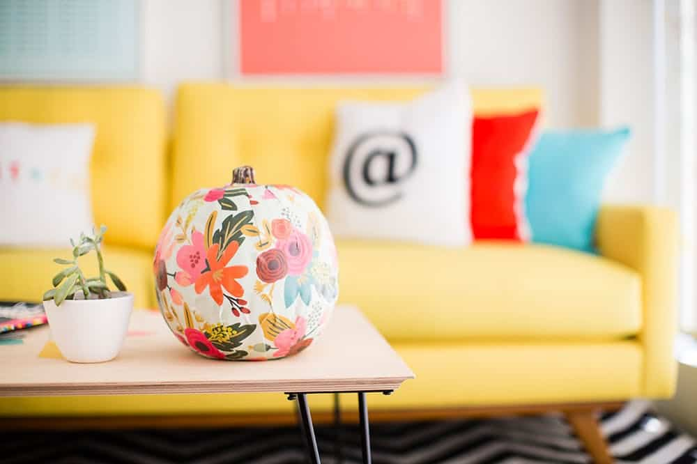 Diy decoupage pumpkin