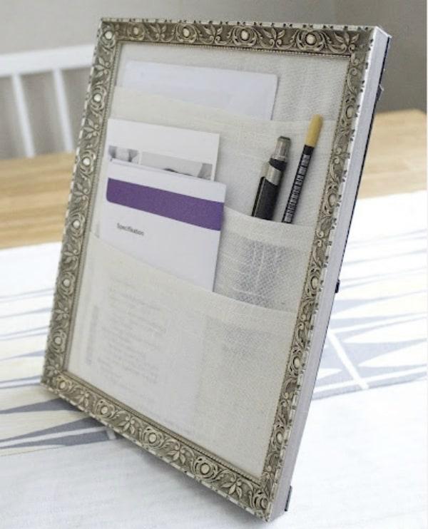 Diy frame desk organizer 2