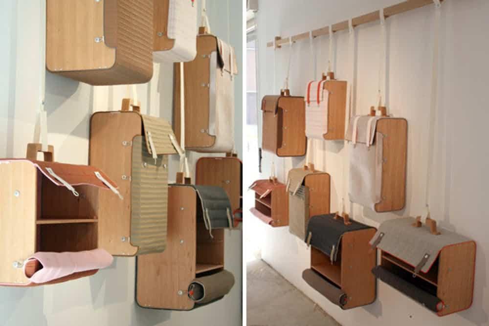 Diy hanging suitcase storage