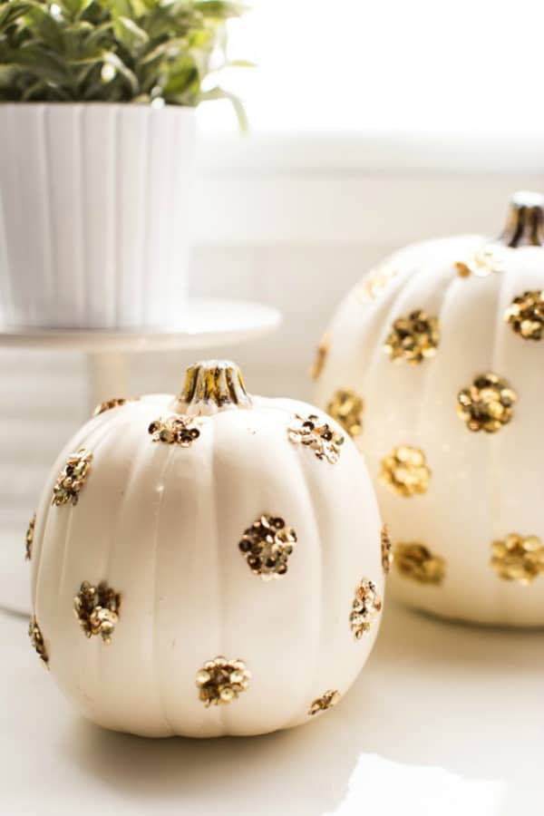 Diy sequin pumpkins 2