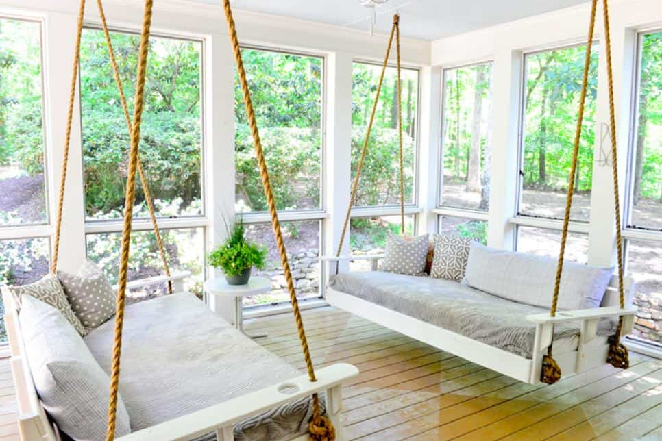 Double porch swing idea