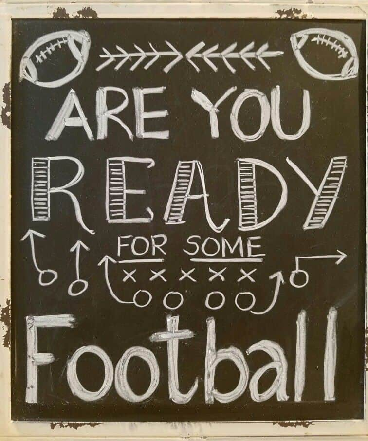 Football fall chalkboard idea
