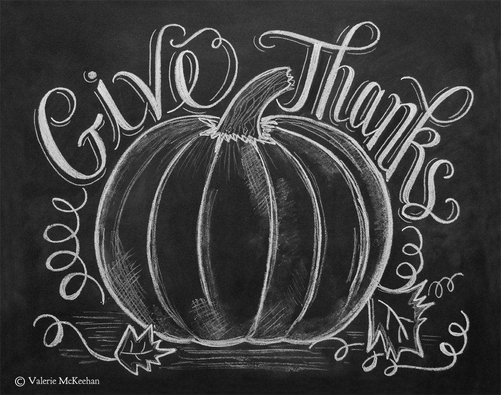 Give thanks fall chalkboard idea