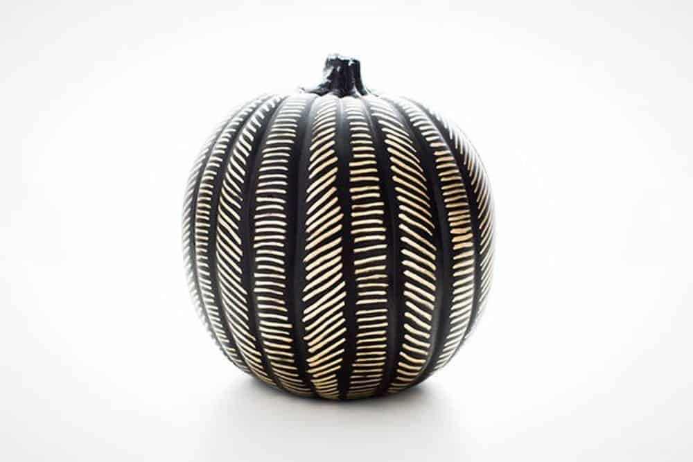 Gold leaf patterned pumpkin