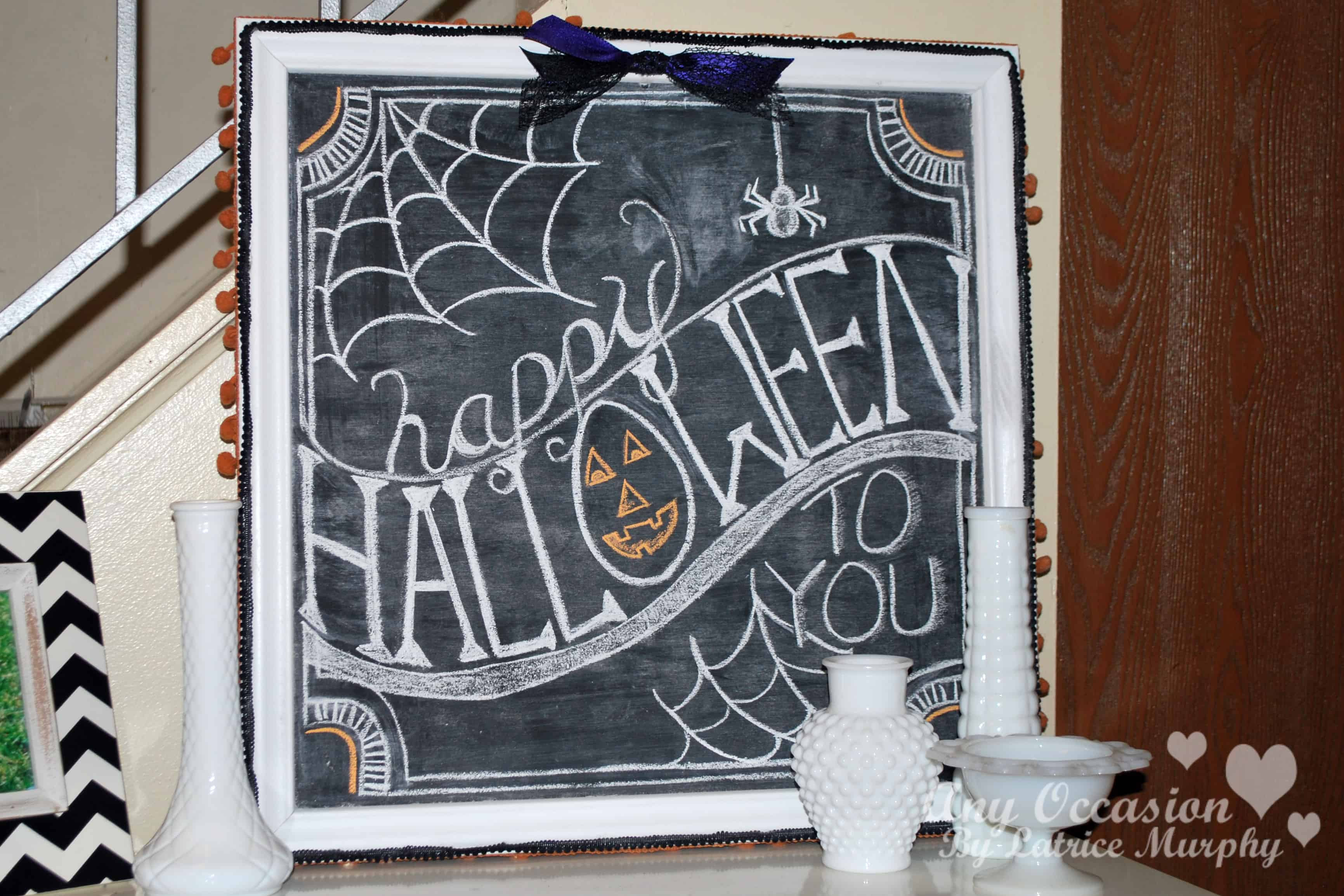Happy halloween to you fall chalkboard idea