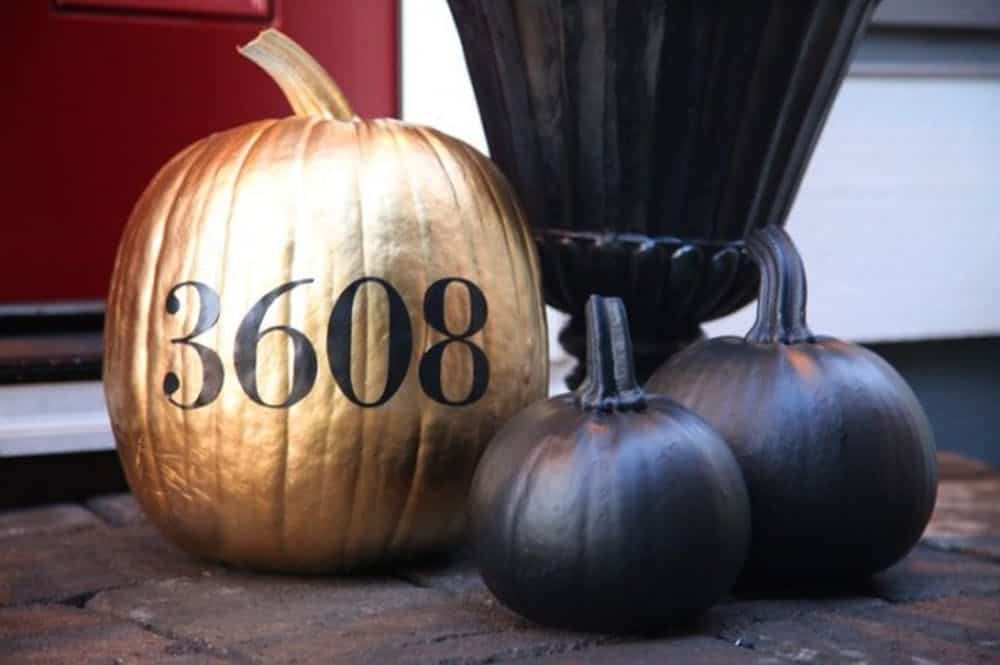 House address pumpkin