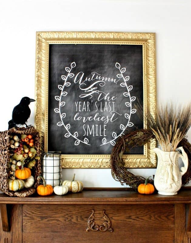 Last smile fall chalkboard idea