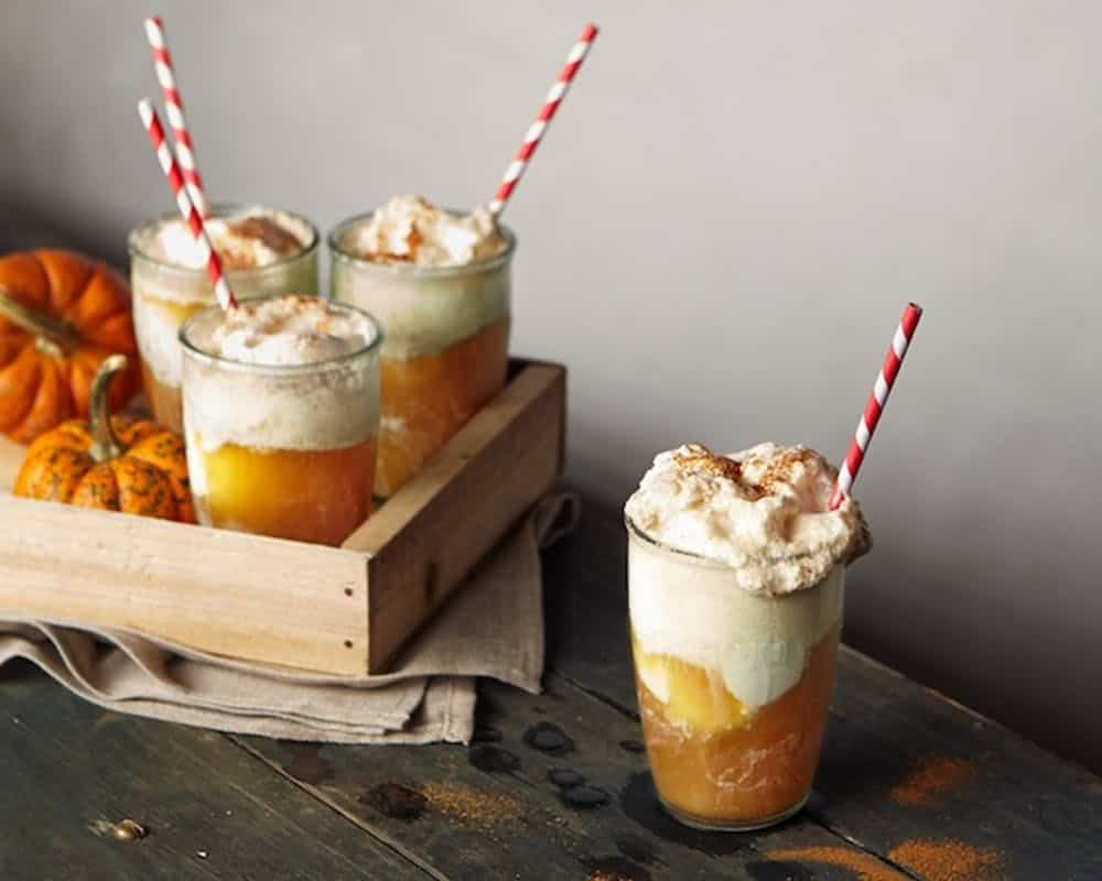 Pumpkin beer float