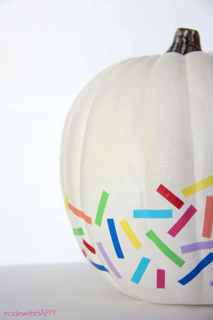 Rainbow confetti pumpkin