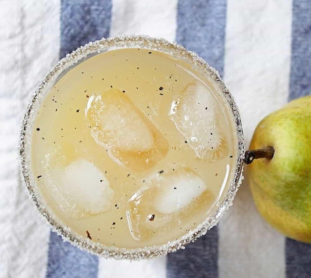 Vanilla pear and vodka cocktail