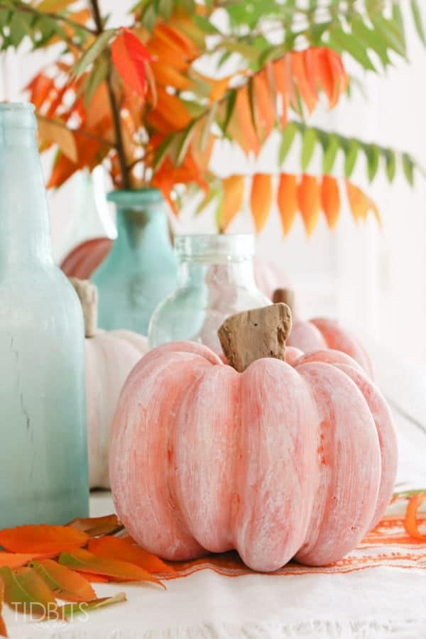 White washed pumpkins