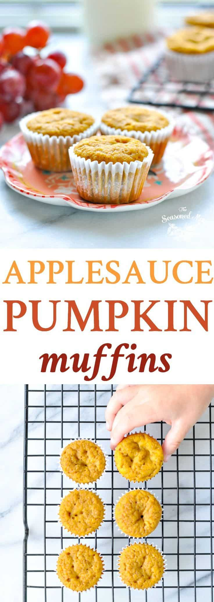 Apple sauce pumpkin muffins
