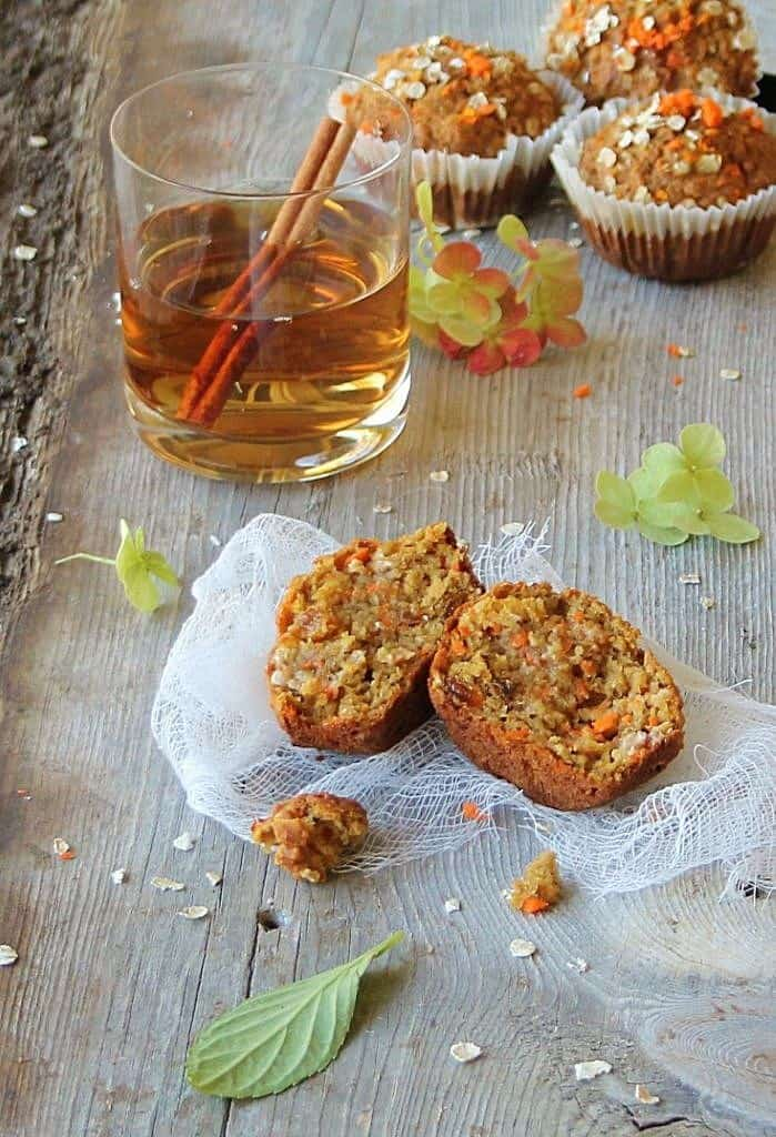Autumn oatmeal carrot muffins