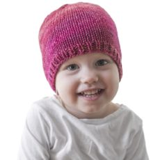 Basic, easy knitted hat for kids