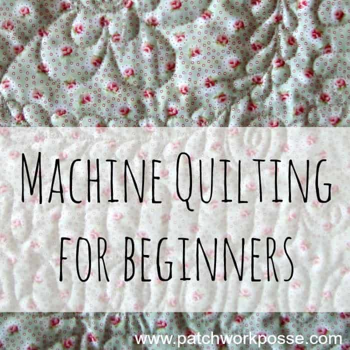 Basic machine quilting stitches