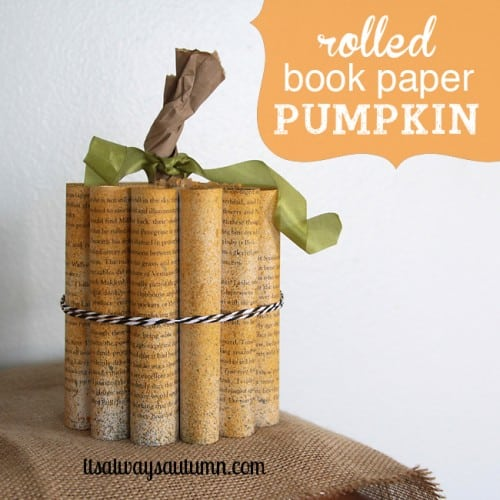 Bundled rolled pages pumpkin