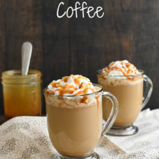 Caramel brulee coffee