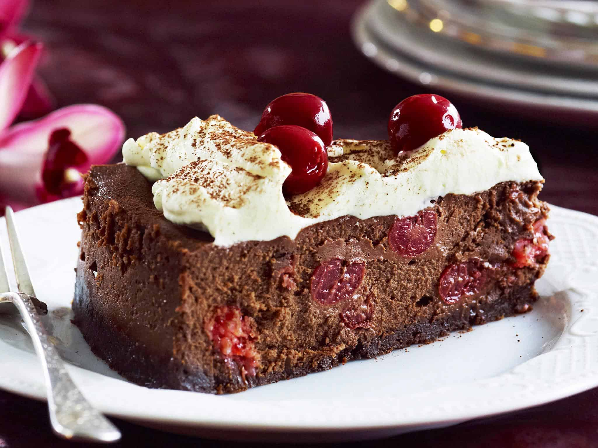 Chocolate fantasy cherry ripe choc cheesecake
