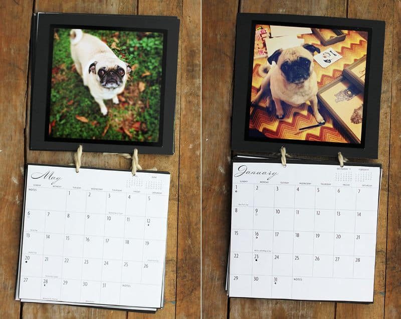 Diy instagram string calendar