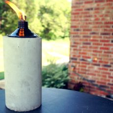 Diy concrete tabltop tiki torch