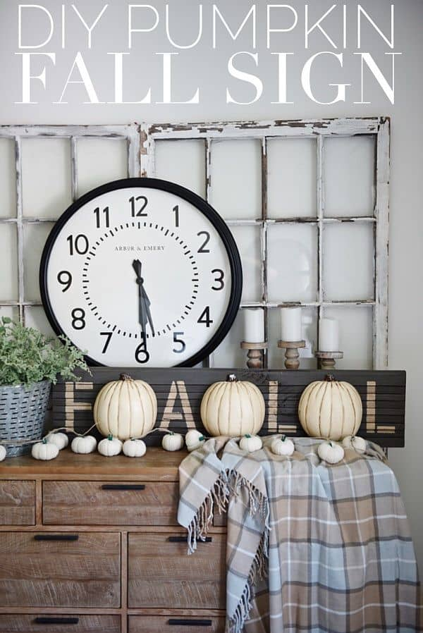 Diy fall pumpkin sign