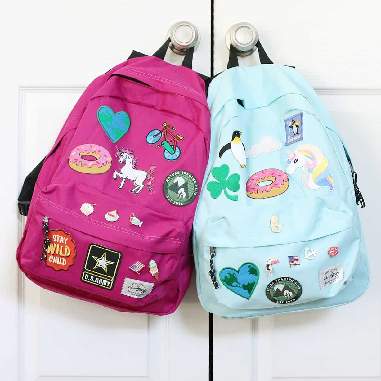 Diy fun patch backpacks