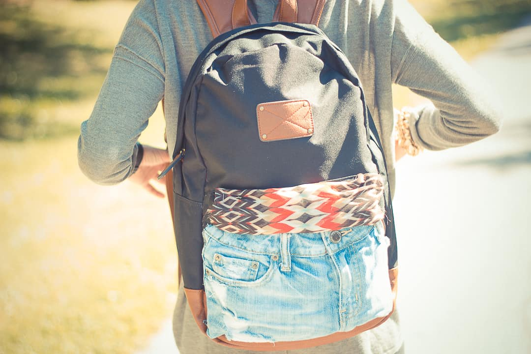 Diy jean pocket backpack