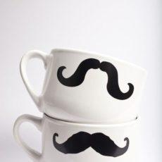 Diy moustache mug
