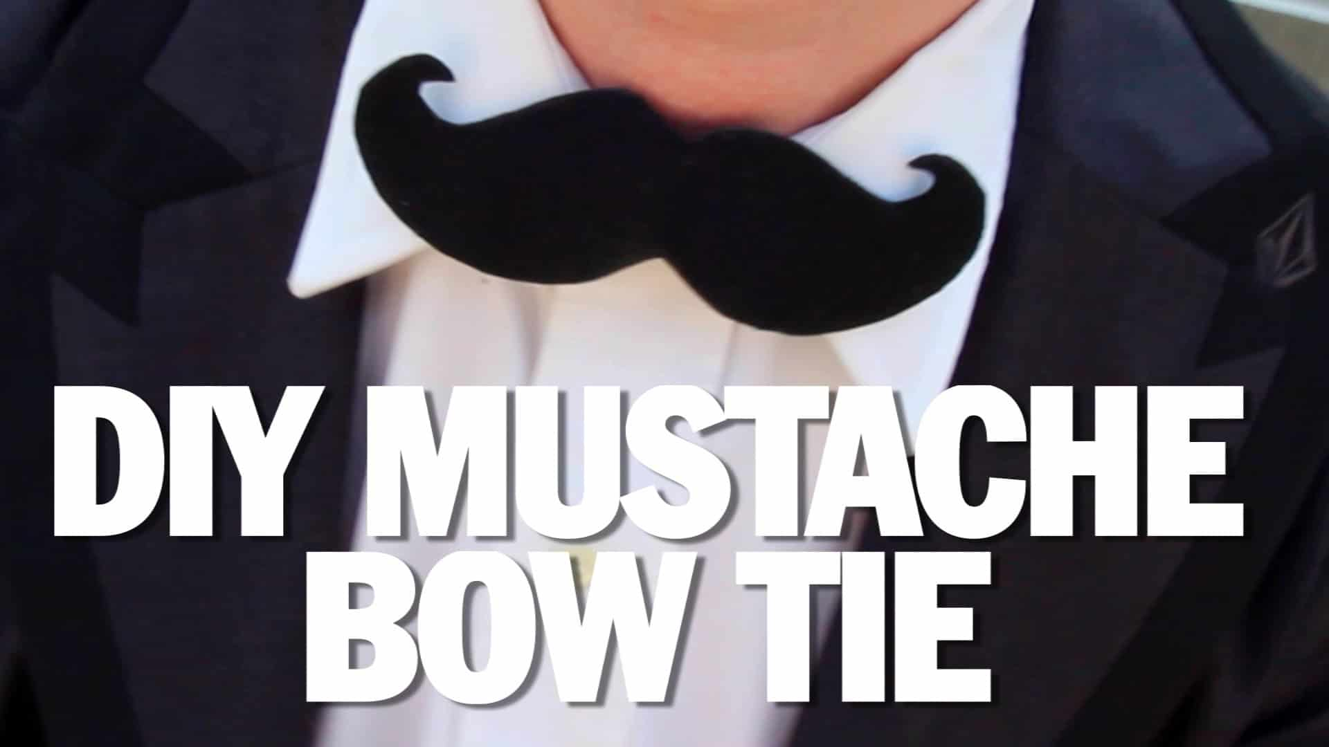 Diy moustahce bowtie