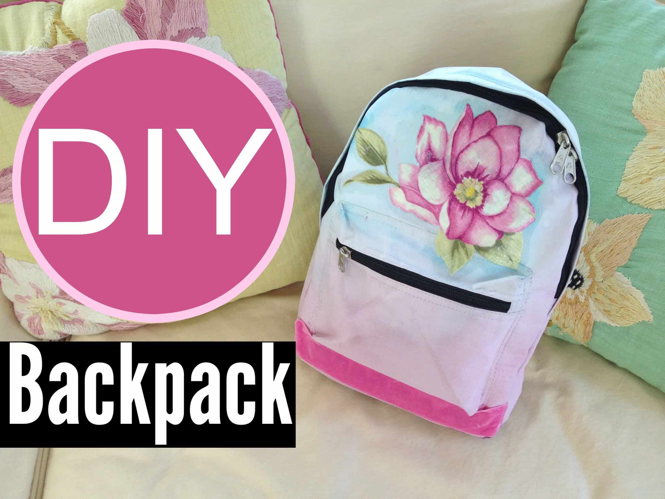 Diy ombre dyed backpack
