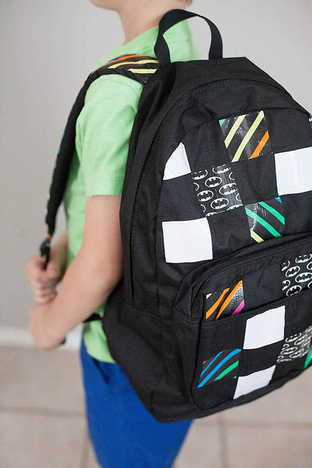 Diy personalized duct tape backpack