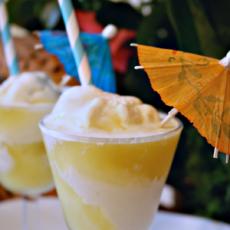 Disney inspired dole whip drink