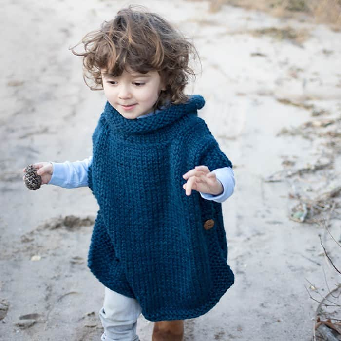 Easy kids poncho
