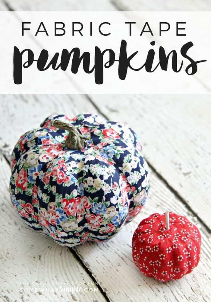 Fabric tape pumpkins