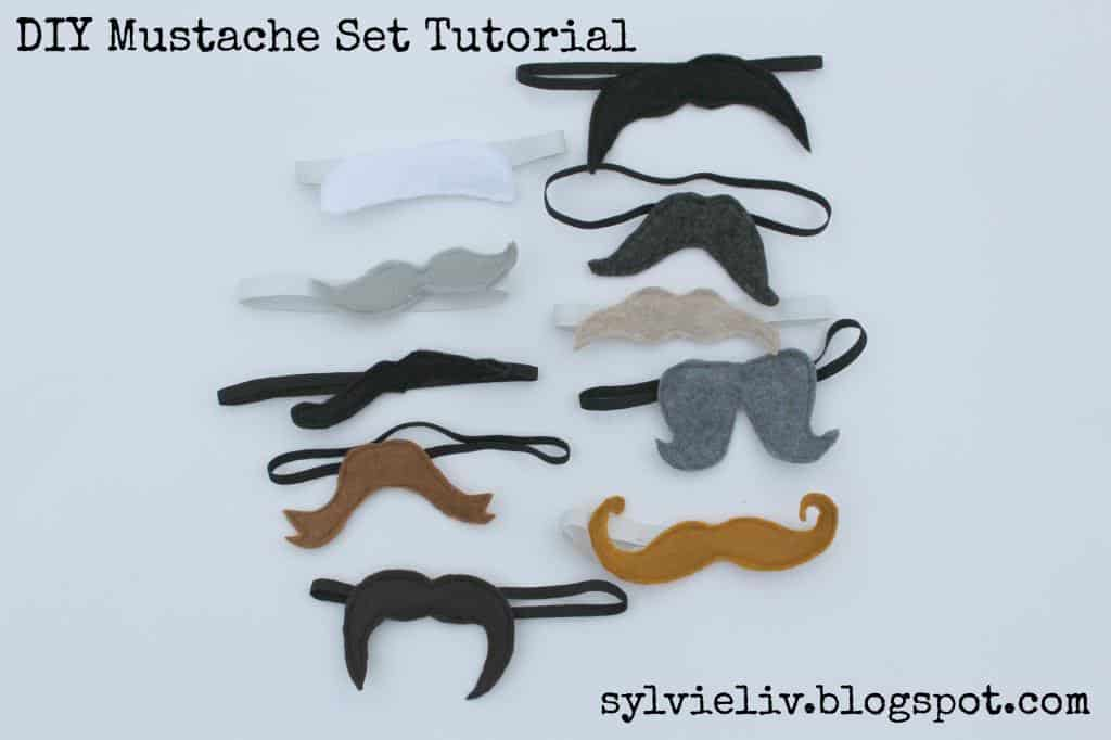 Felt and elastic moustaches