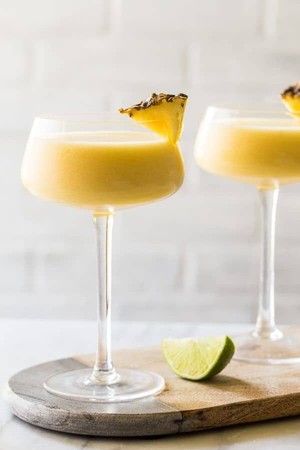 Frozen pineapple mango daiquiris
