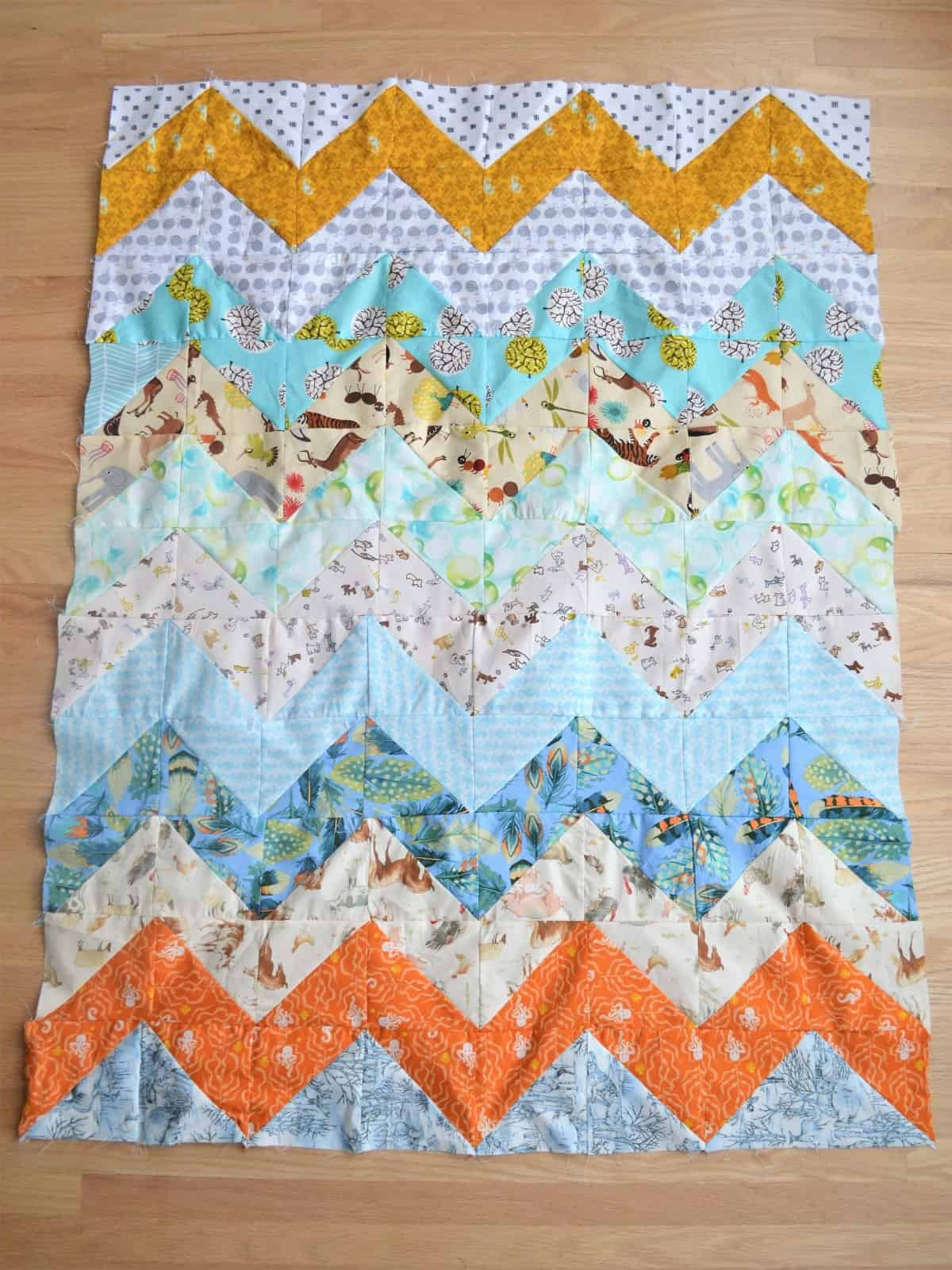 Full horizontal chevrons quilt