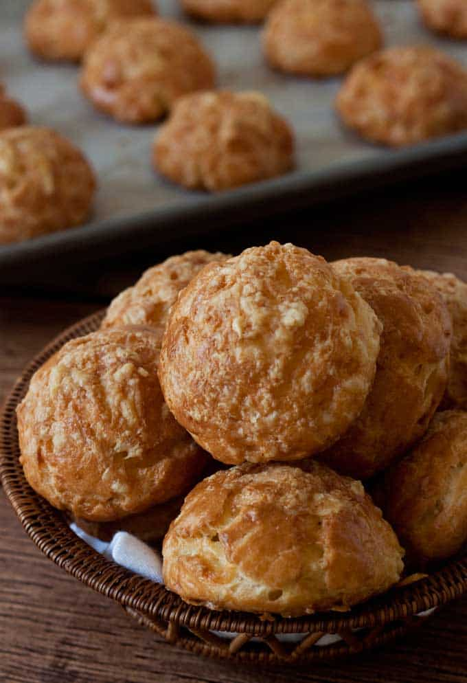 Gougeres, or savory cream puffs