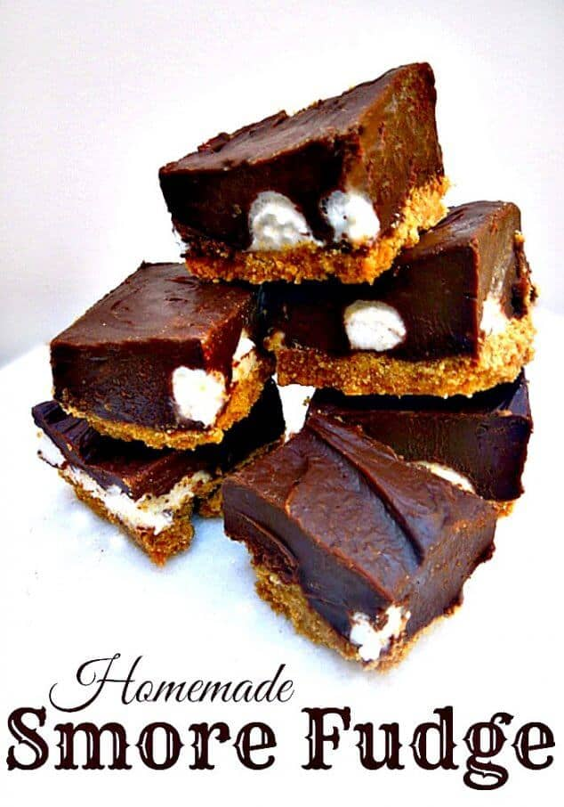 Homemade s'more fudge