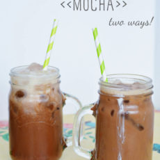 Iced coconut water mocha