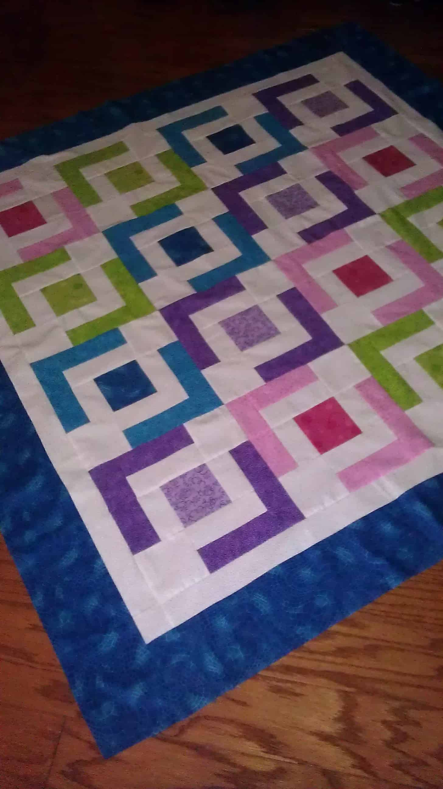 Jaded chain baby quilt