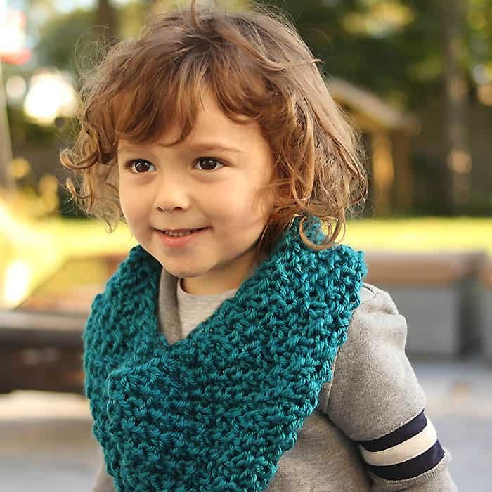 Kids' moss stitch cowl