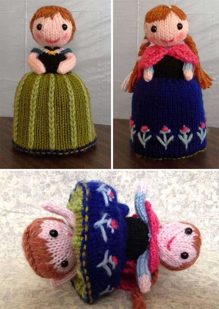 Knitted flip doll