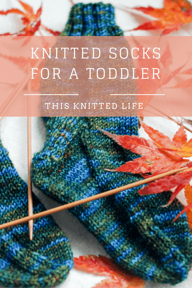 Knitted toddler socks