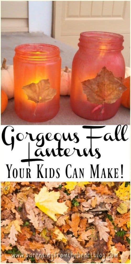 Leafy fall lanterns