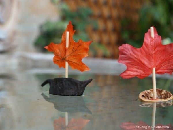 Miniature leaf boats