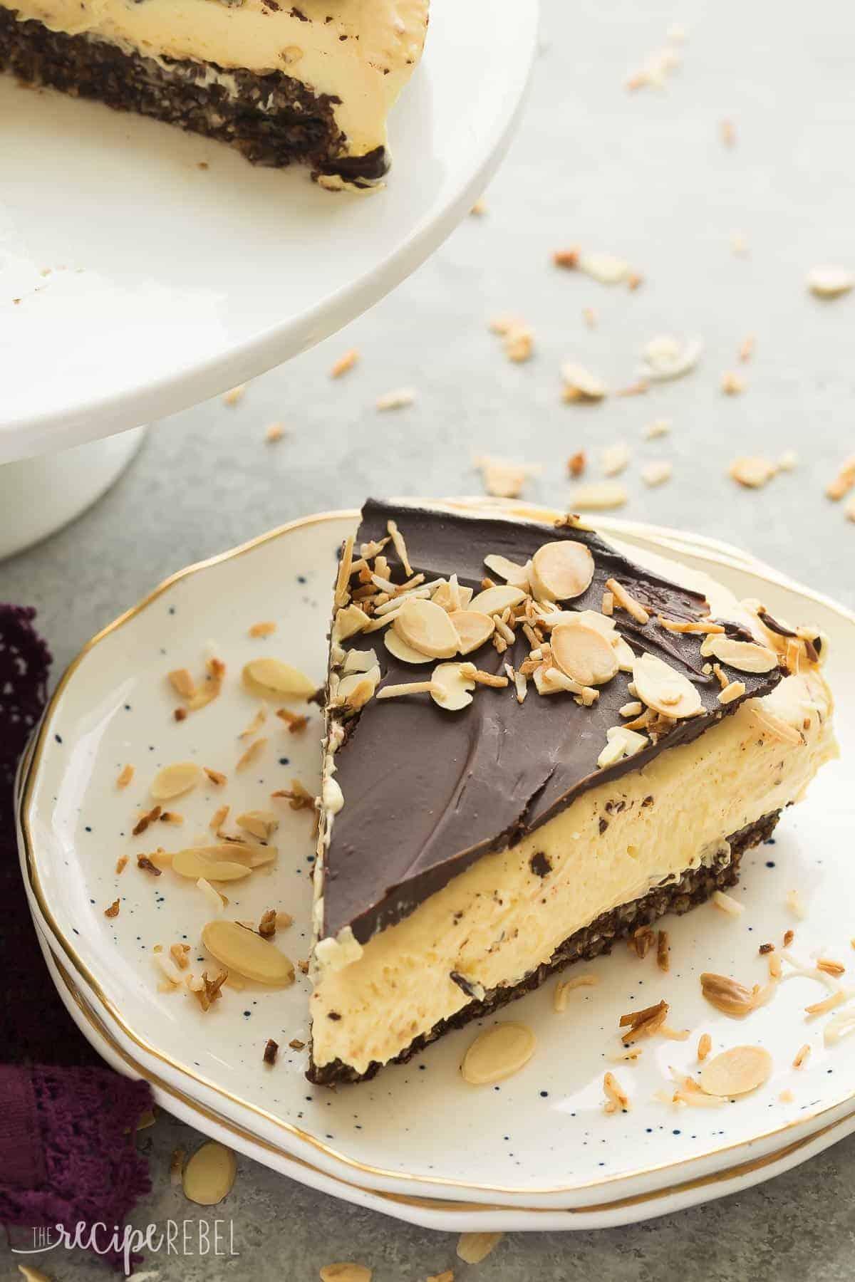 No bake nanaimo bar cheesecake